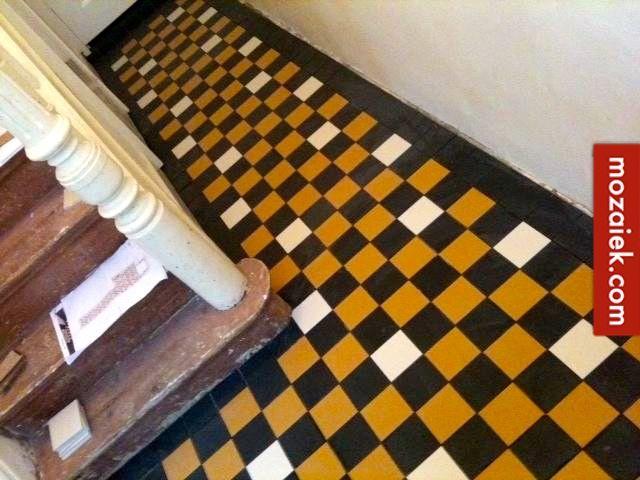 Ontwerp tegelvloer gang en toilet jaren 30 woning amersfoort dit
