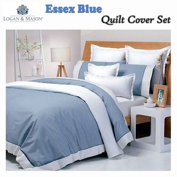 Essex Blue #QuiltCover Set by #LoganandMason