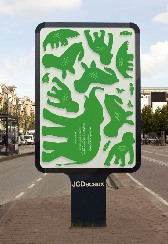 To advertise a babyboom in Amsterdam's Artis Royal Zoo. The idea was to spread the stickers all over the city. Great concept !