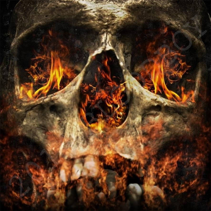 Fire skull by Bloodboy