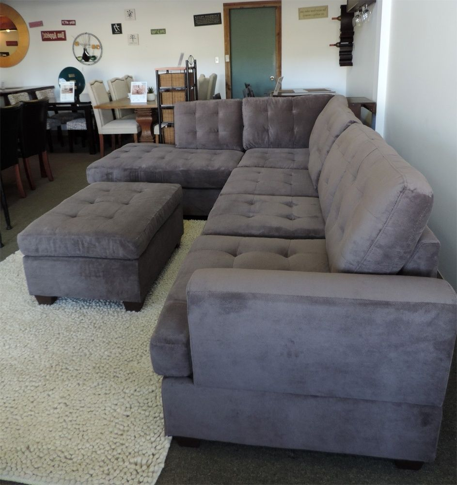 Grey Suede Couch Grey Sectional Couch Large Sectional Couch