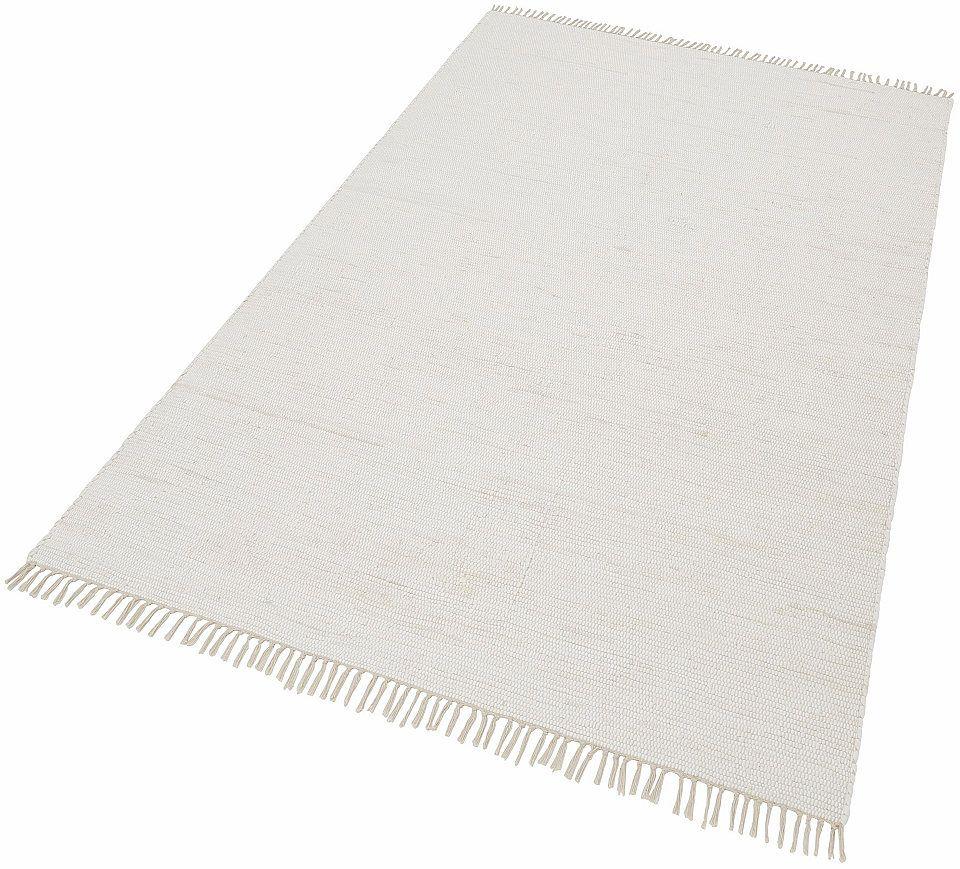 Baumwollteppich Weiß