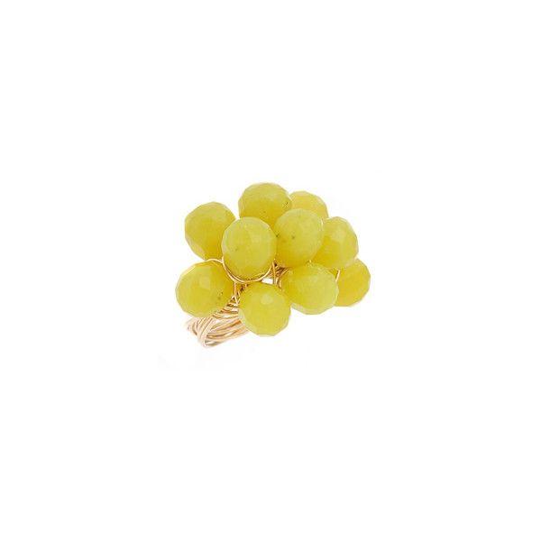 Nugaard Designs Olive Jade Bubble Ring ($123) ❤ liked on Polyvore