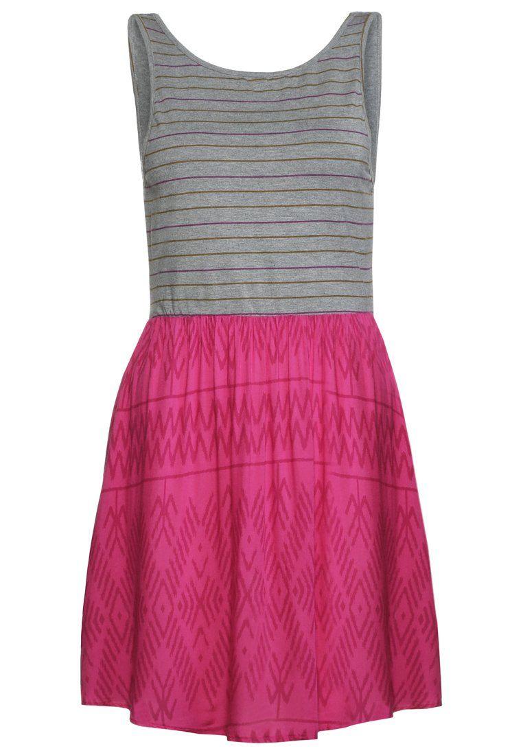 Cómpralo ya!. Roxy Vestido de algodón berry ikat threads pattern ...