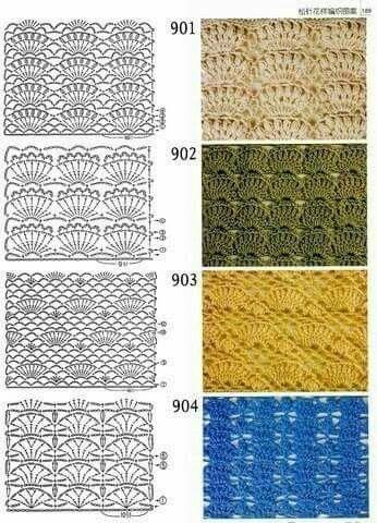 Muster 6 | Häkeln | Pinterest | Muster, Häkelmuster und Häkeln