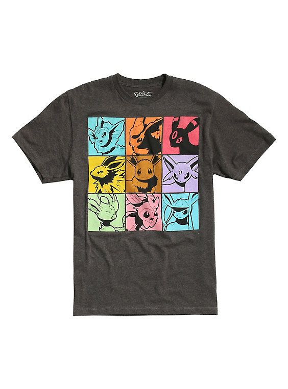 f62ace40 Pokemon Eevee Evolutions Squares T-Shirt | Cool Stuff | Pokemon ...