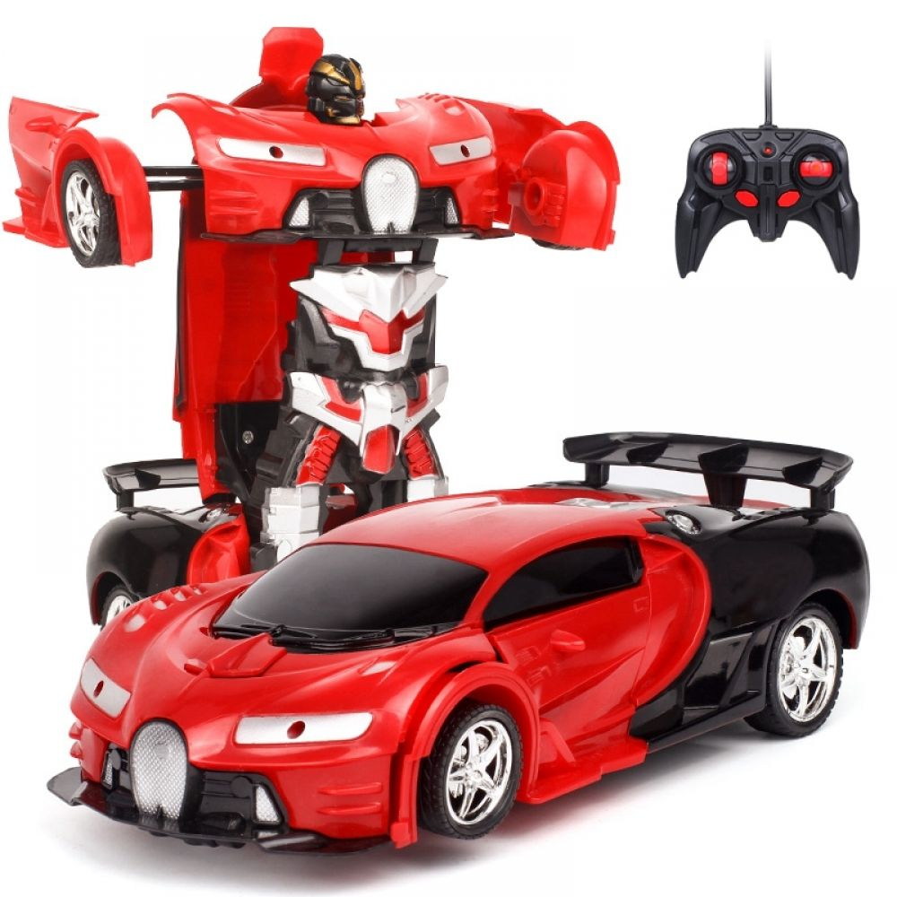 2 In 1 RC Car Sports Car Transformation Robots Models Remote