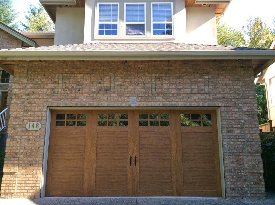 Clopay Garage Doors On Twitter Garage Doors Exterior Brick Faux Wood Garage Door
