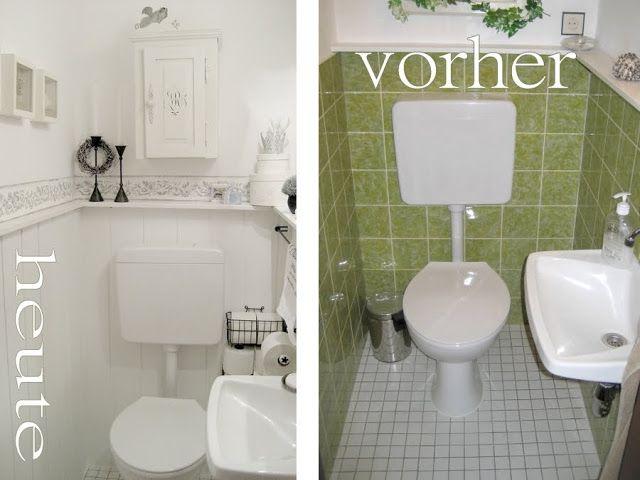 dagina vintage vorher nachher Bildchen  wohnen  Badezimmer Fliesen streichen und Fliesen