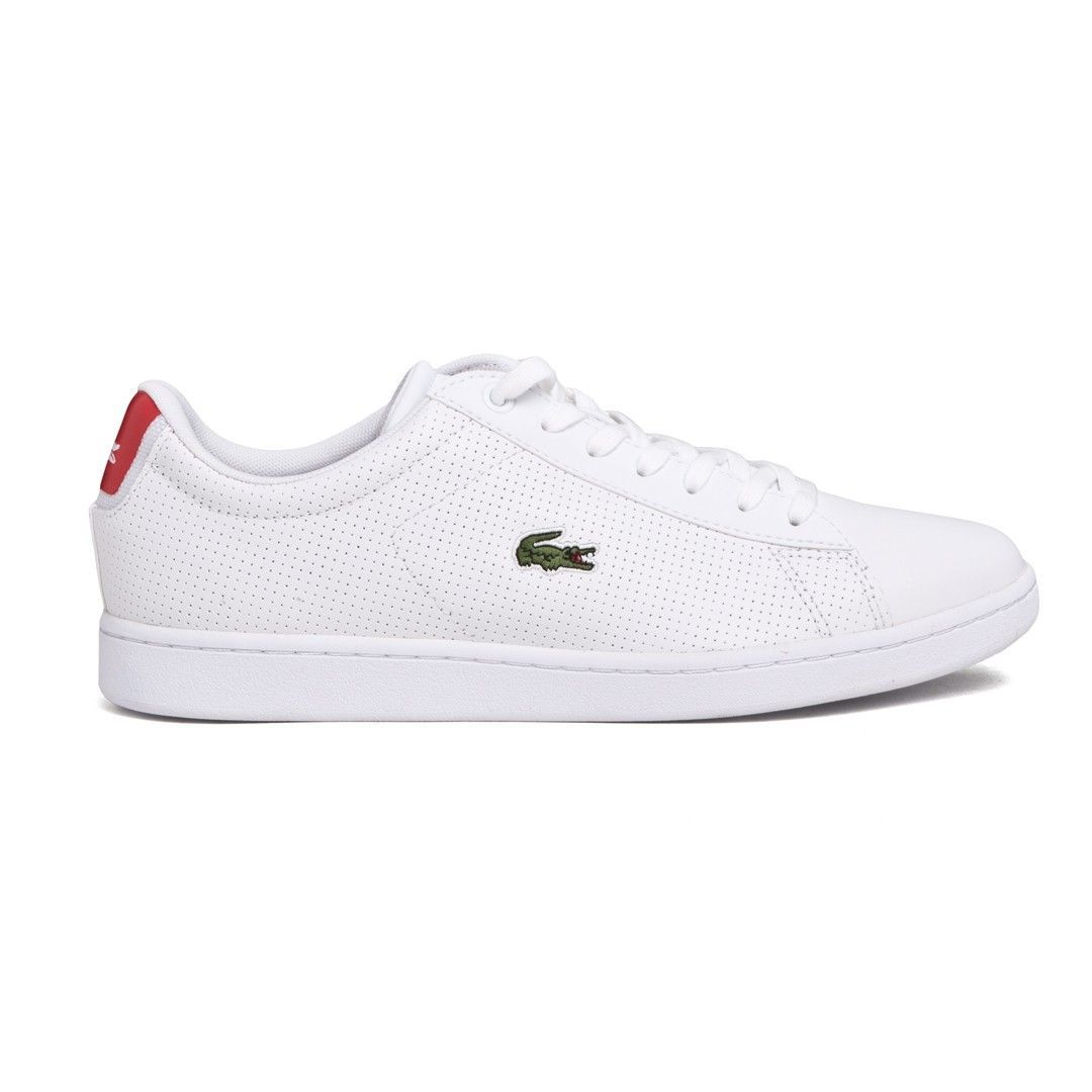 c827dd581 LACOSTE Men s Carnaby Evo Sneakers With White Perforated Leather Detail