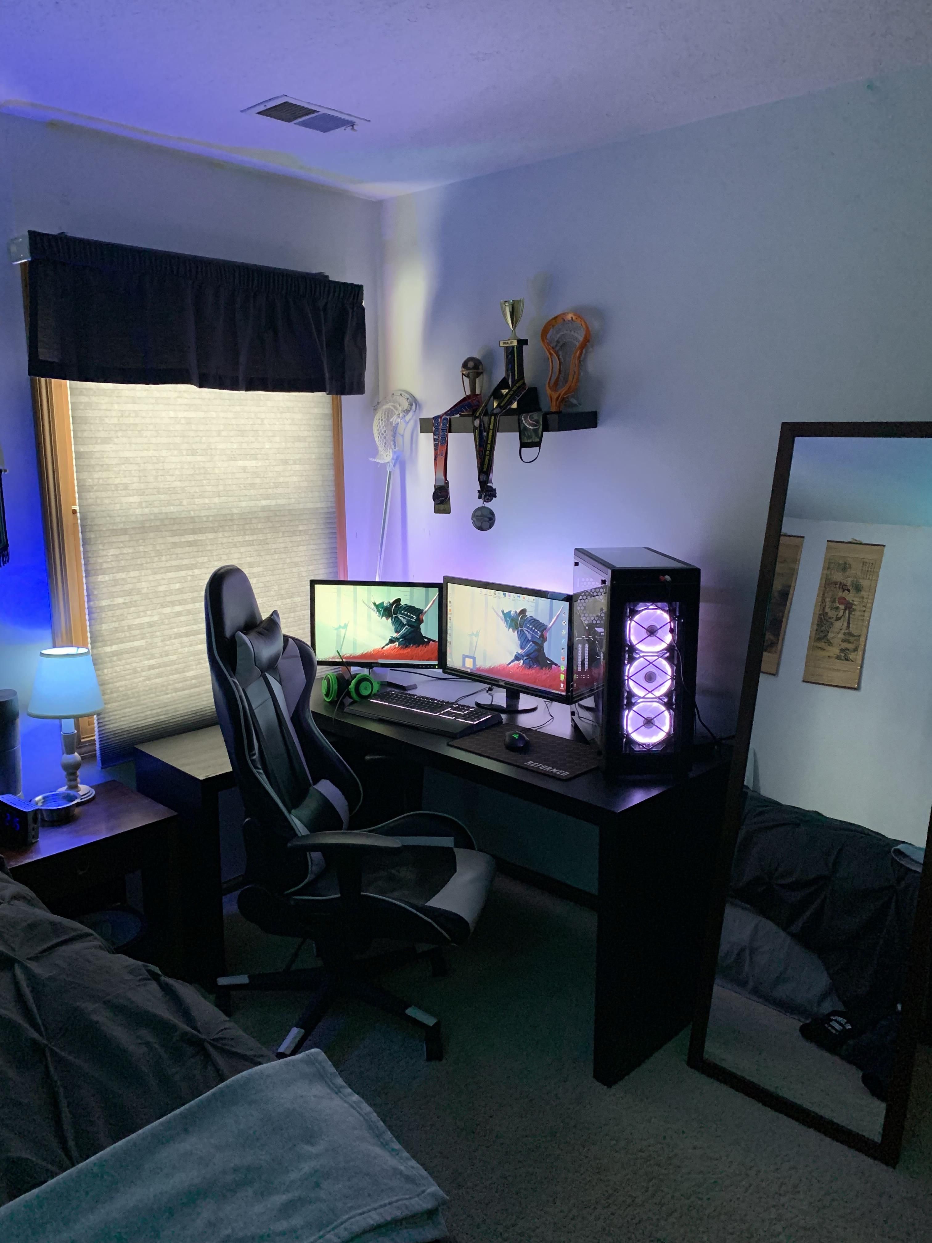 Album of my new setup/bedroom | Gaming room setup, Simple ...