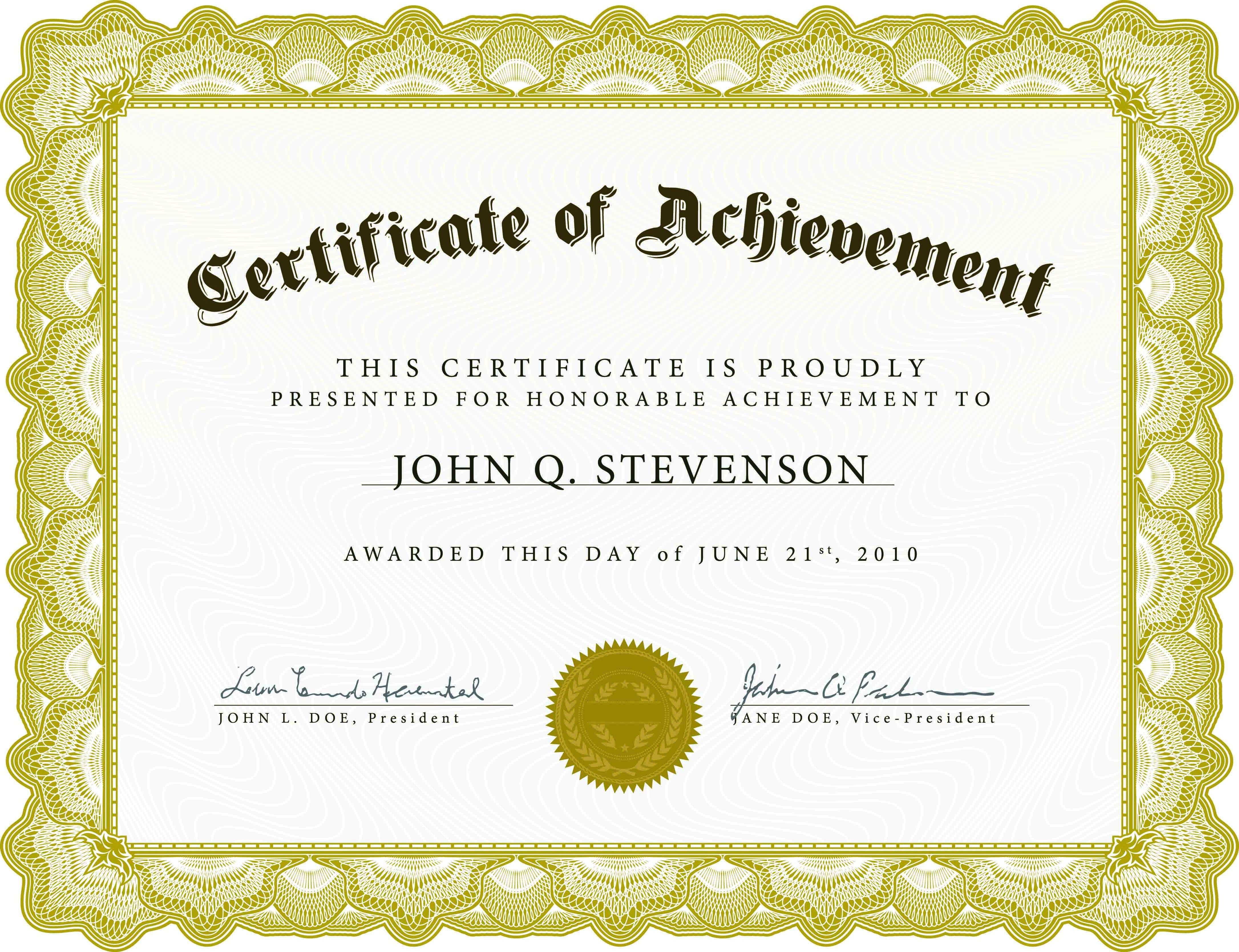 Award Certificate Sample Certificate Award Sample Ecza Solinf Co Graduation Certificate Template Free Certificate Templates Awards Certificates Template Sample of certificate of achievement