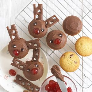 Thanks to Annabel Karmel for sharing her recipe for Rudolph Cupcakes