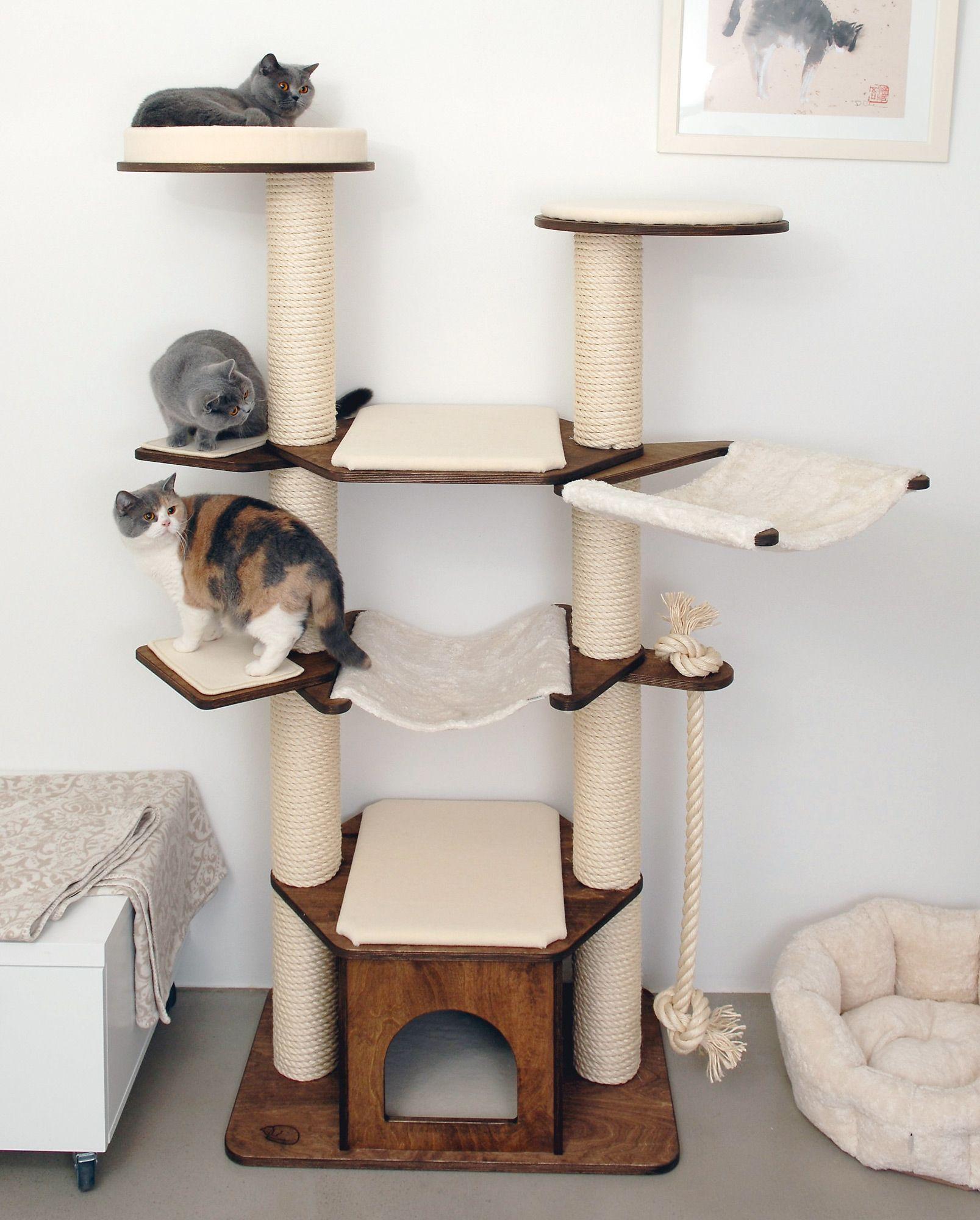 vollholzkratzbaum vincent von profeline klettern von stufe zu stufe springen und in h gematten. Black Bedroom Furniture Sets. Home Design Ideas