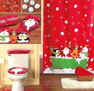 ideas para decorar el bao en navidad