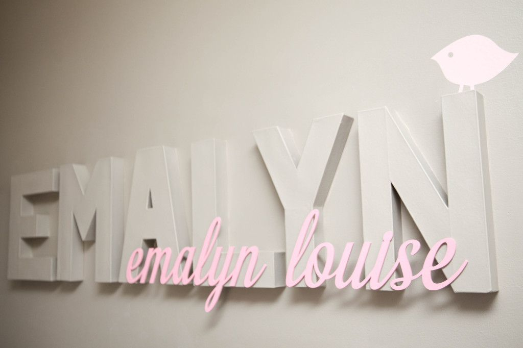 Baby Name Wall Decor Nursery