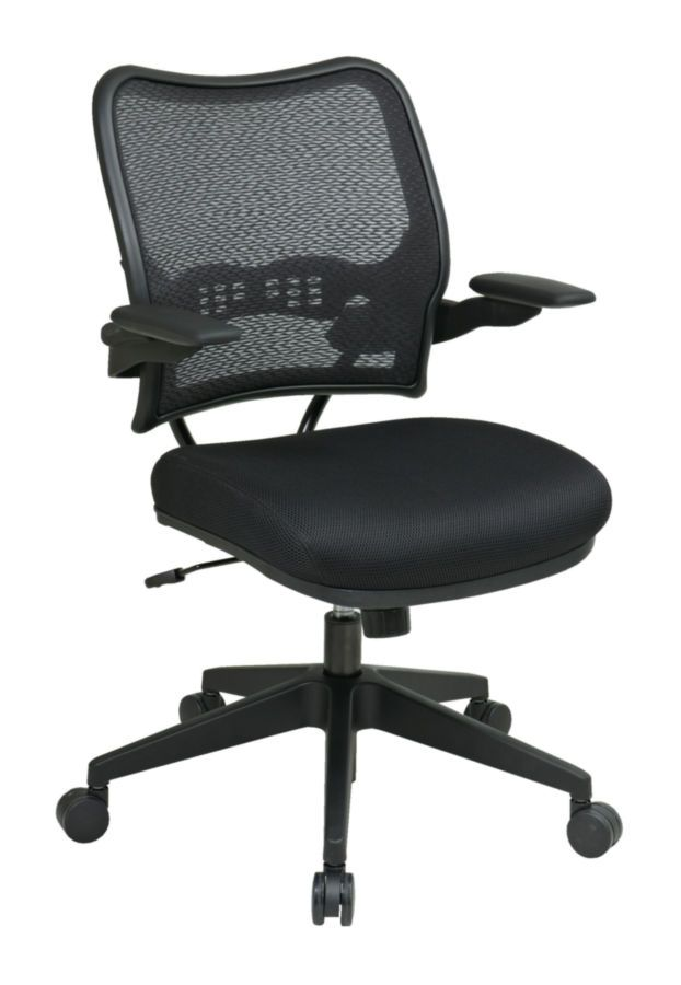 Black Deluxe Chair with AirGrid® Back and Mesh Seat OSP-13-37N1P3