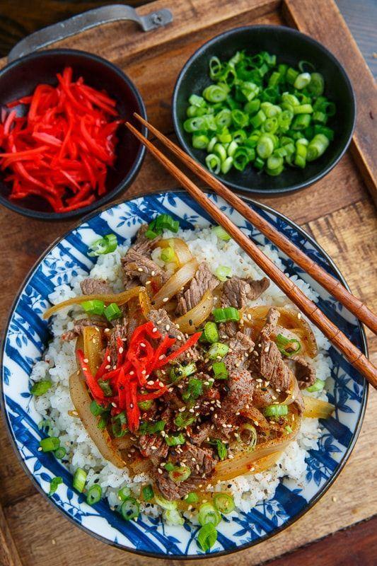 Gyudon (Japanese Beef Rice Bowl) #beefandrice