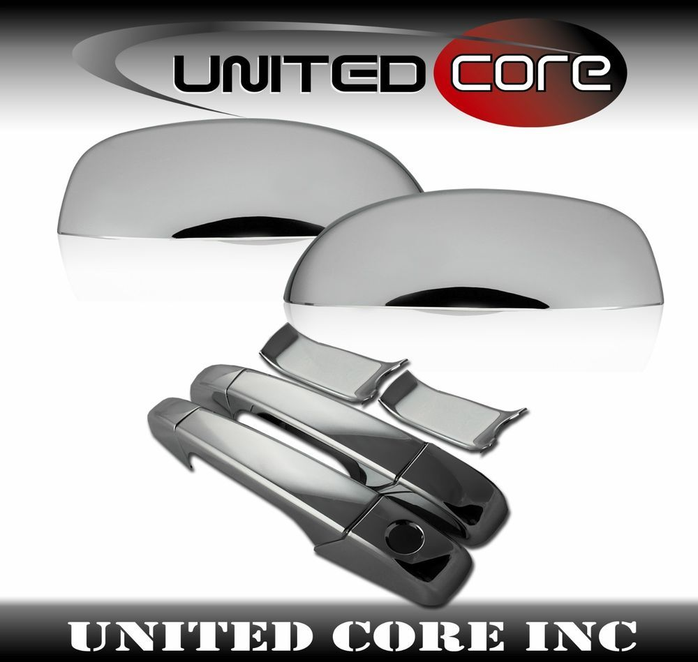 Details About Gmc Sierra Silverado Chrome Door Handle Cover Mirror Cover Upper Half 07 13 Gmc Trucks Chrome Door Handles Trucks