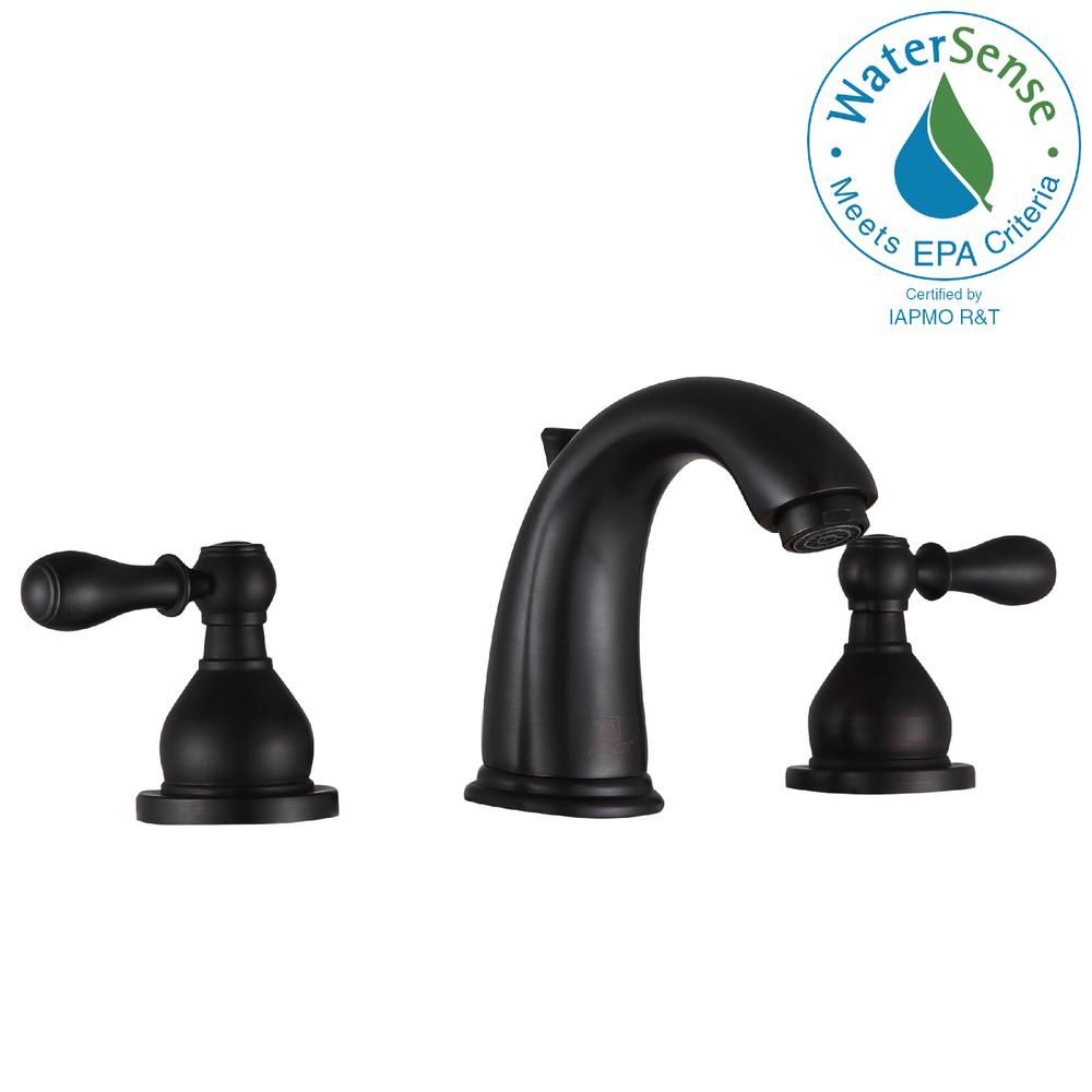 Anzzi Raider 8 In Widespread 2 Handle Bathroom Faucet In Oil
