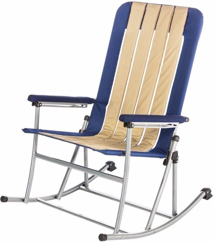 Kamp Rite Portable Folding Rocking Camping Chair Padded Seat