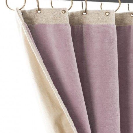 kant en klaar gordijn linnen velours lila 9995
