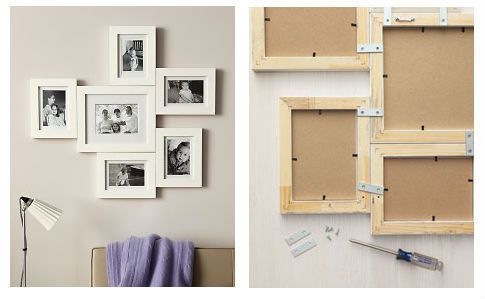 Diy connected photo frame display picture frames pinterest diy connected photo frame display solutioingenieria Choice Image