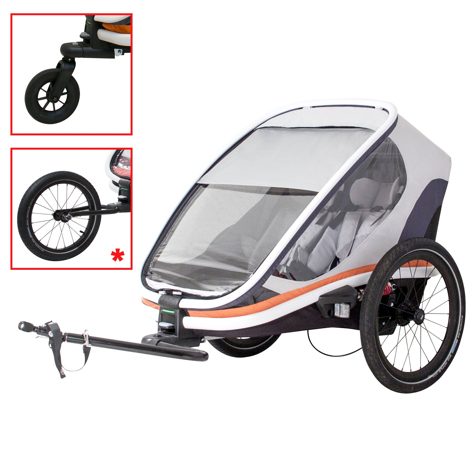 Hamax Outback Multi Sport Bike Trailer Stroller Jogger Trunk Feature Multi Sport Child Bike Trailers