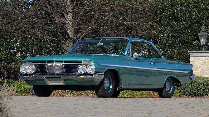 1961 Chevrolet Bel Air Bubble Top 409 Ci 4 Speed Mecum Auctions