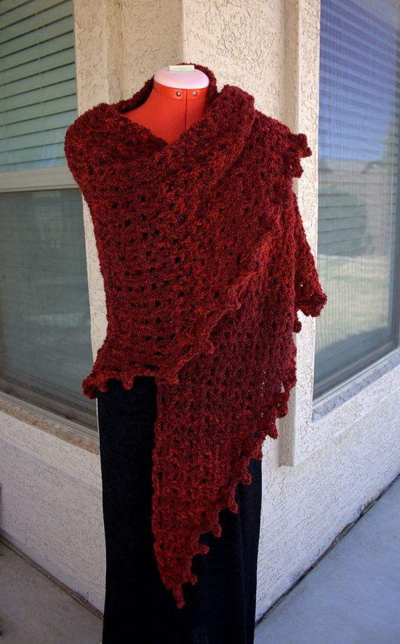 PDF DIGITAL PATTERN:Boucle Crochet Shawl Pattern, Easy Crochet Shawl ...