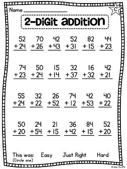 First Grade Math Unit 13 For 2 Digit Addition And Subtraction First Grade Math Worksheets First Grade Math 2nd Grade Math Worksheets