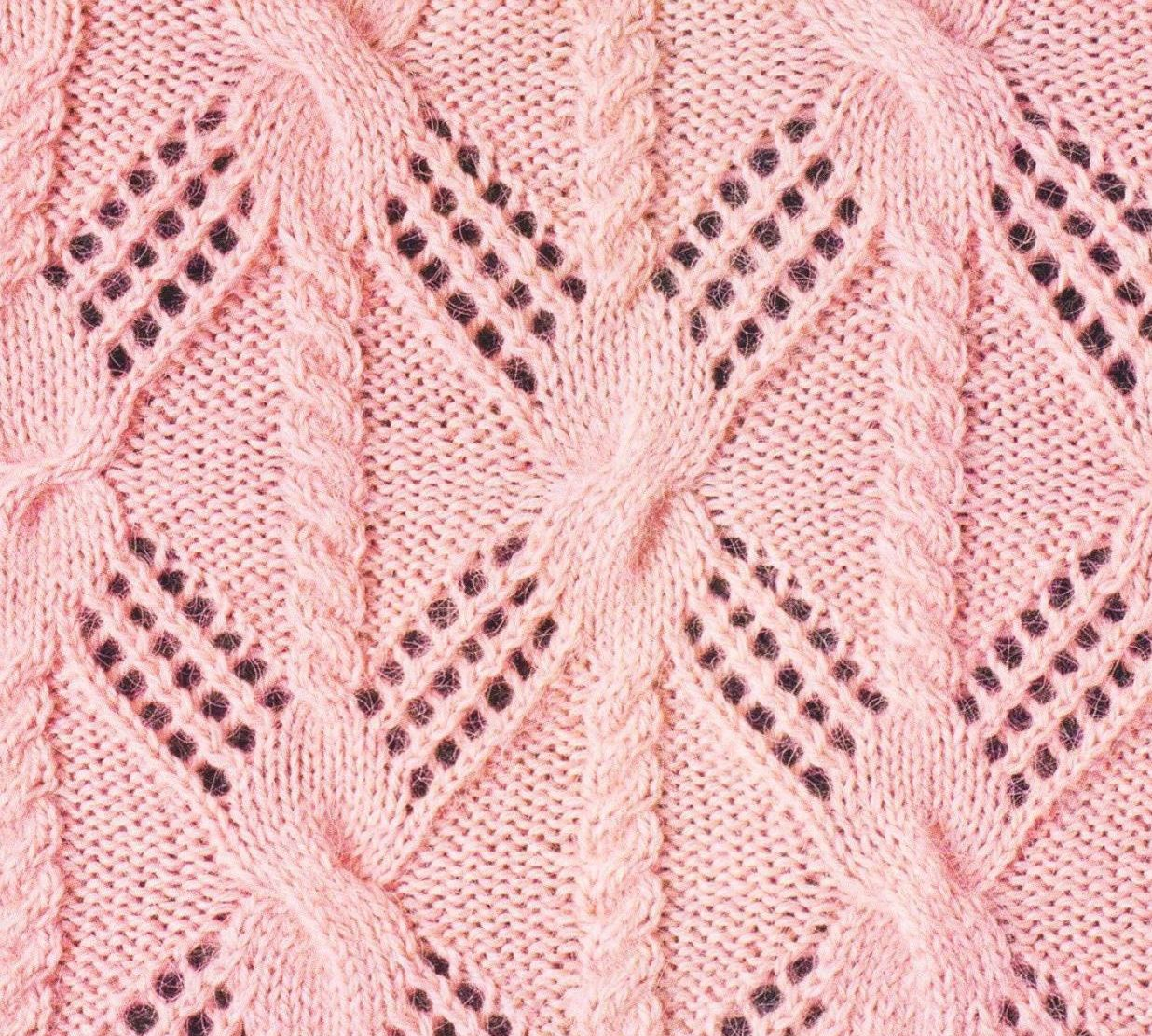 Lace and Cable Knitted Stitch Combo. Free pattern ...