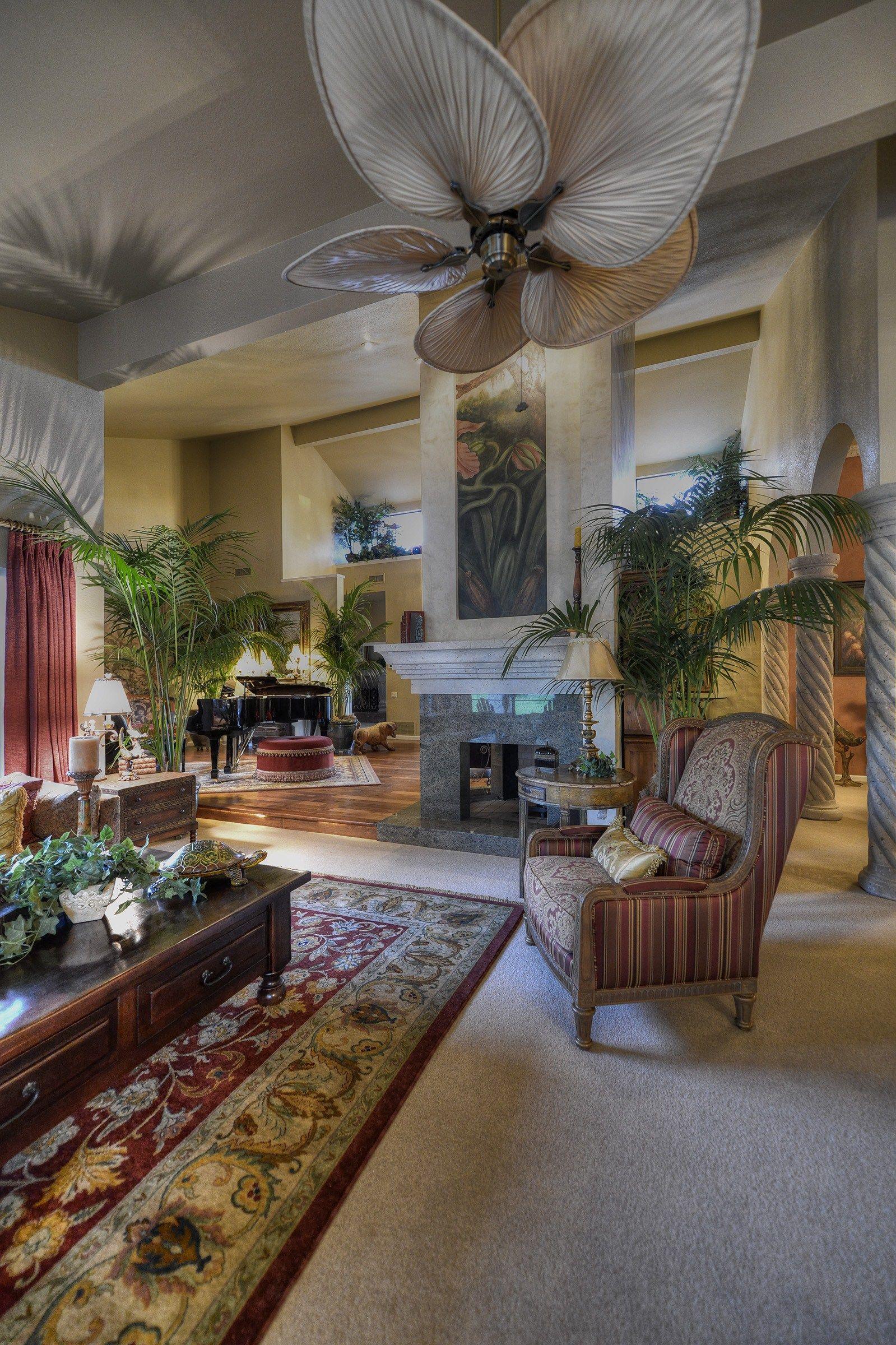 Rustic and romantic living room in Scottsdale Arizona ...