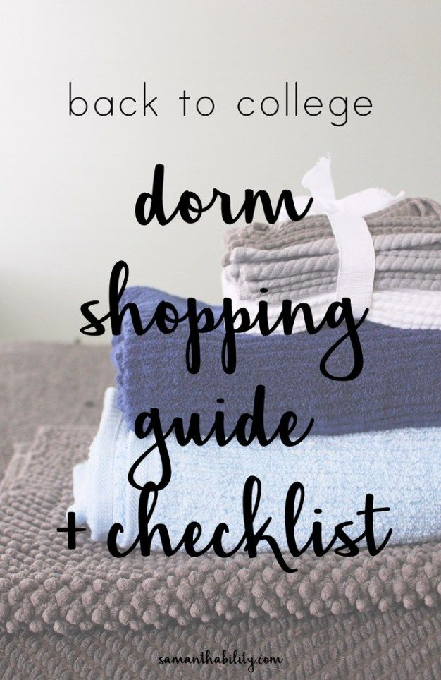 Dorm Shopping Guide Checklist Influenceher Collective