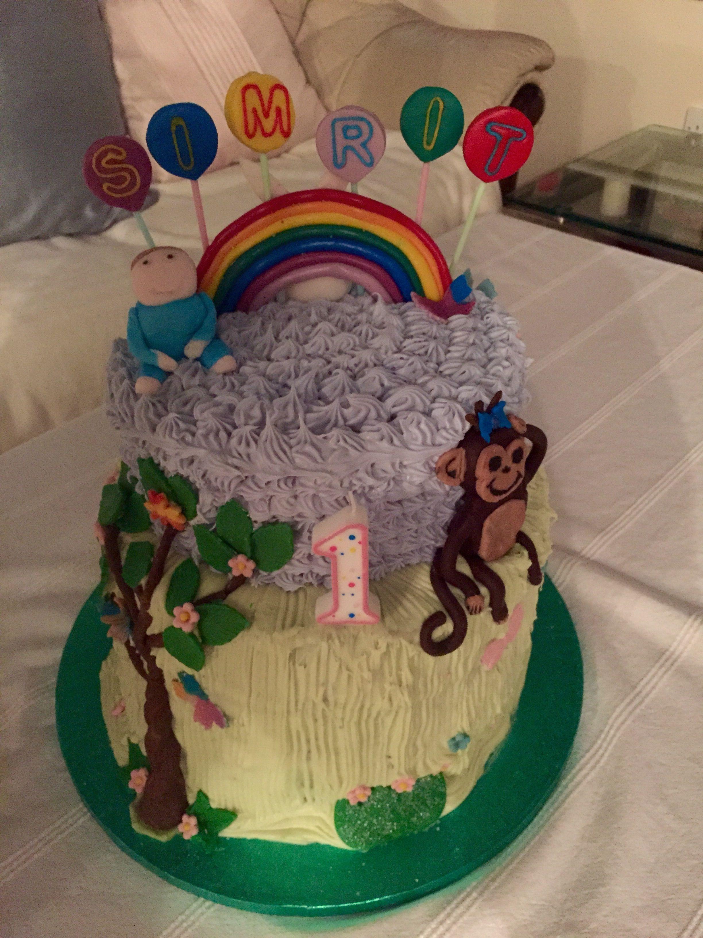 Baby Jake Birthday Cake 1st Birthday Cake Craftwork Pinterest