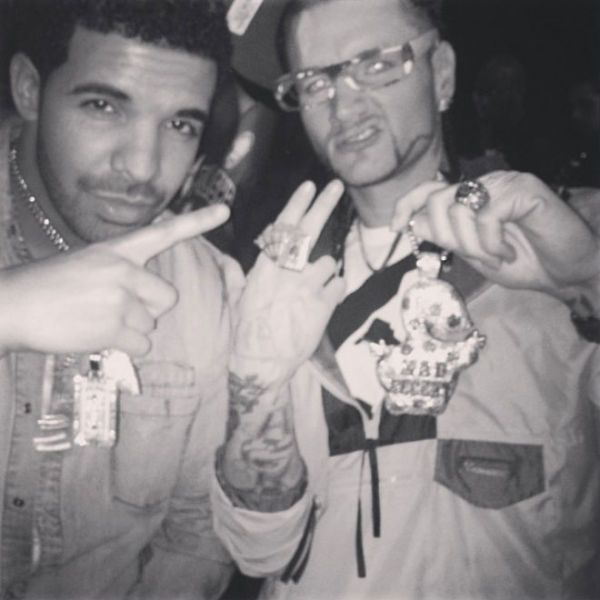 87c36499cc49e Drake and Houston rapper Riff Raff (aka Horst Christian Simco) are  reportedly friends. Riff Raff even released a remix of Drake s song   Started From the ...