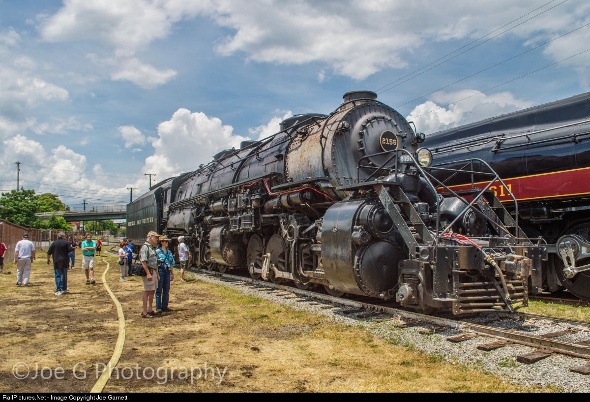 Net Photo: N&W 2156 Norfolk & Western Steam 2-8-8-2 at Roanoke, Virginia by  Joe Garnett