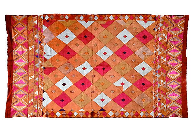 Phulkari Bagh Textile on OneKingsLane.com