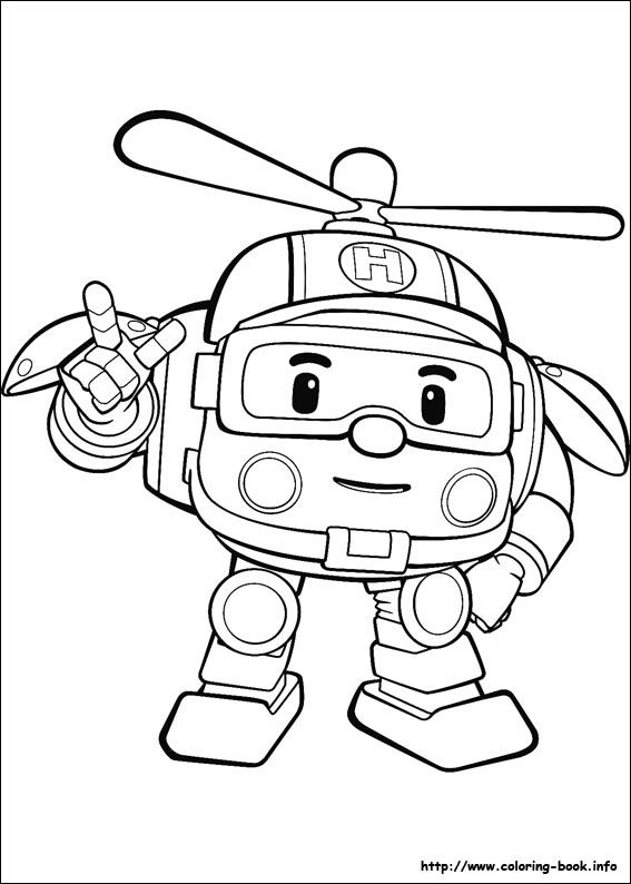 Robocar Poli Coloring Picture Tot School Coloring Pages