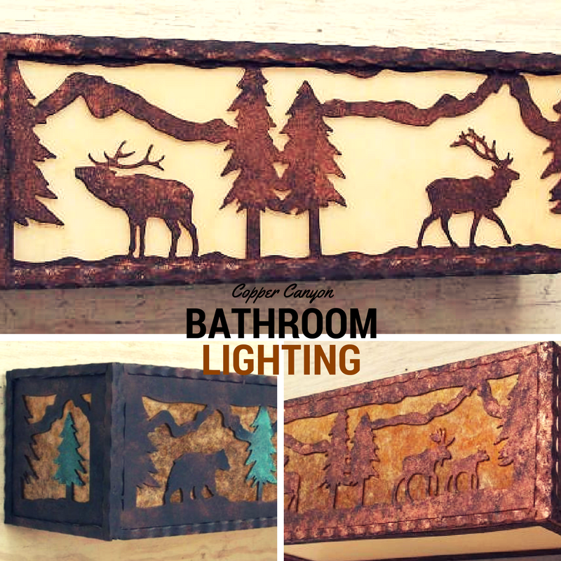 Copper Canyon Rustic Bathroom Lighting Bathvanity Bathlighting Rusticlighting Rustic Bathroom Lighting Vintage Bathroom Vanities Bathroom Lighting