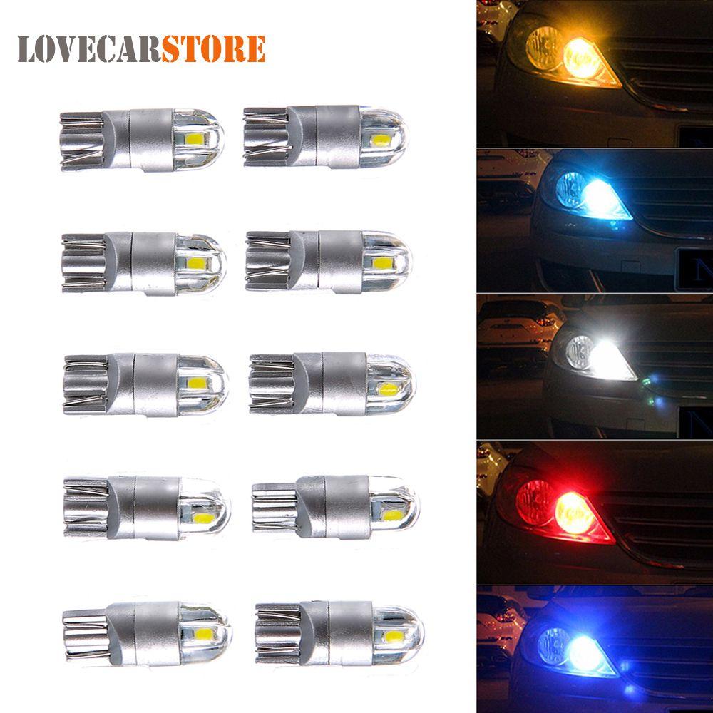 10pcs 12v T10 Led Car Light Bulb 168 194 W5w 3030 Auto Turn Signal License Plate Trunk Light Brake Fog Dome Map Rea Car Headlight Bulbs Headlight Bulbs Lights