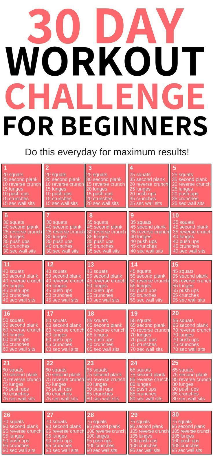 This 30 day workout challenge for beginners is THE BEST! Im so glad I found this awesome workout cha...