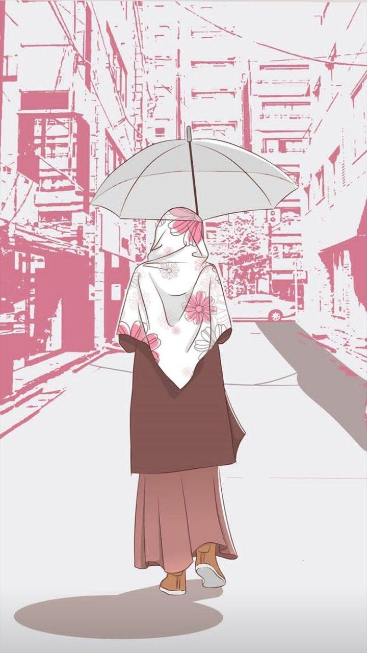 Pin oleh Nurlita di anime muslimah Elit Seni karakter