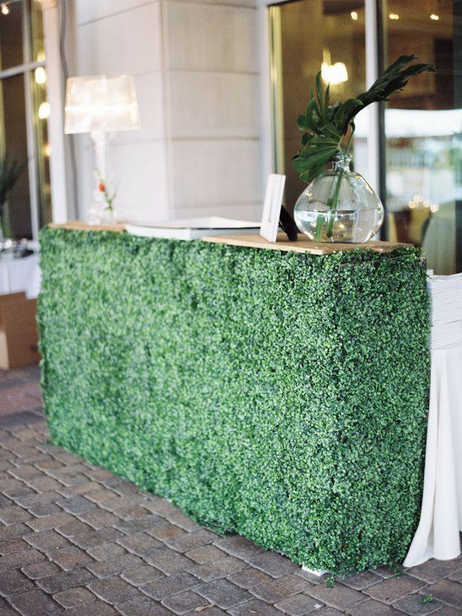 Fresh green wedding bar