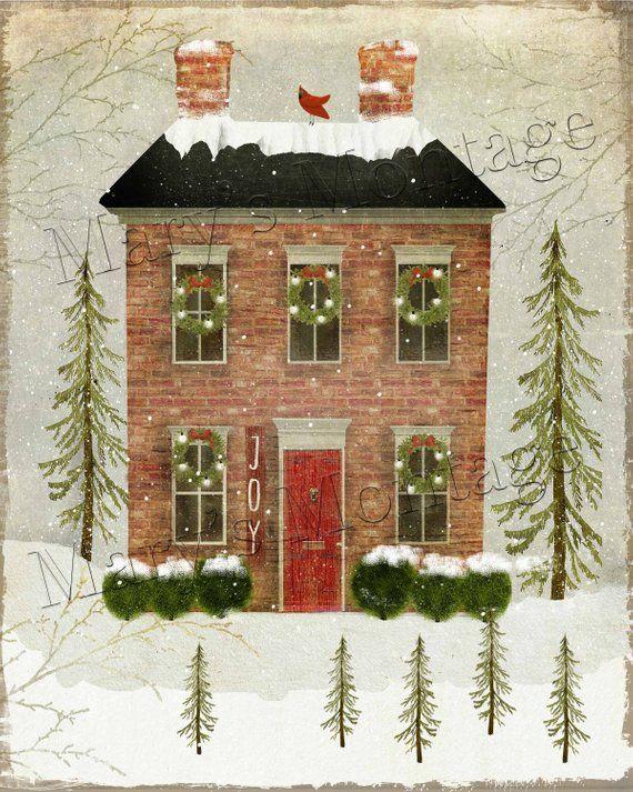 Snow House, 8x10 printable download