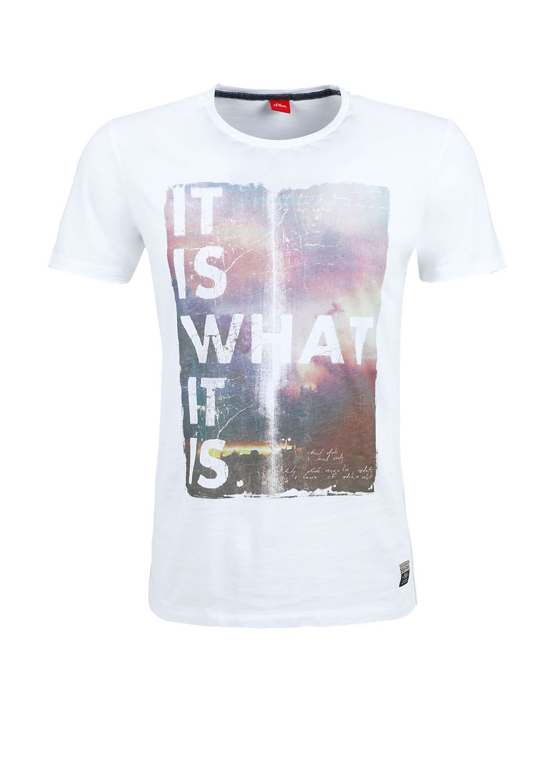 T-Shirt mit Frontprint von s.Oliver. Entdecken Sie jetzt topaktuelle Mode für Damen, Herren und Kinder und bestellen Sie online.