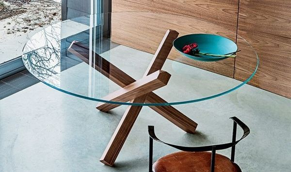 Minimalist Glass Top Wooden Coffee Table Discover More