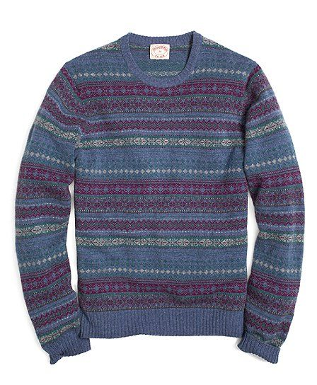 All-Over Fair Isle Crewneck Sweater - Brooks Brothers | Boy's Club ...