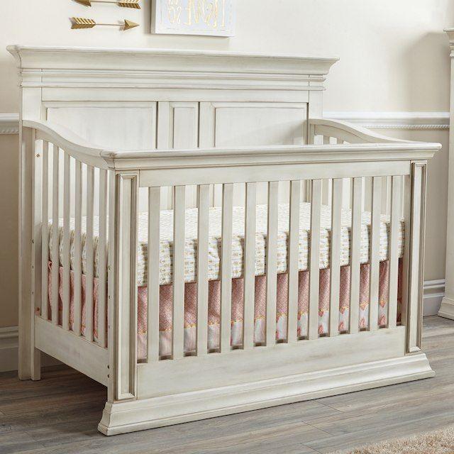 Baby Cache Vienna 4-in-1 Convertible Crib - Antique White - Baby Cache Vienna 4-in-1 Convertible Crib - Antique White Girls