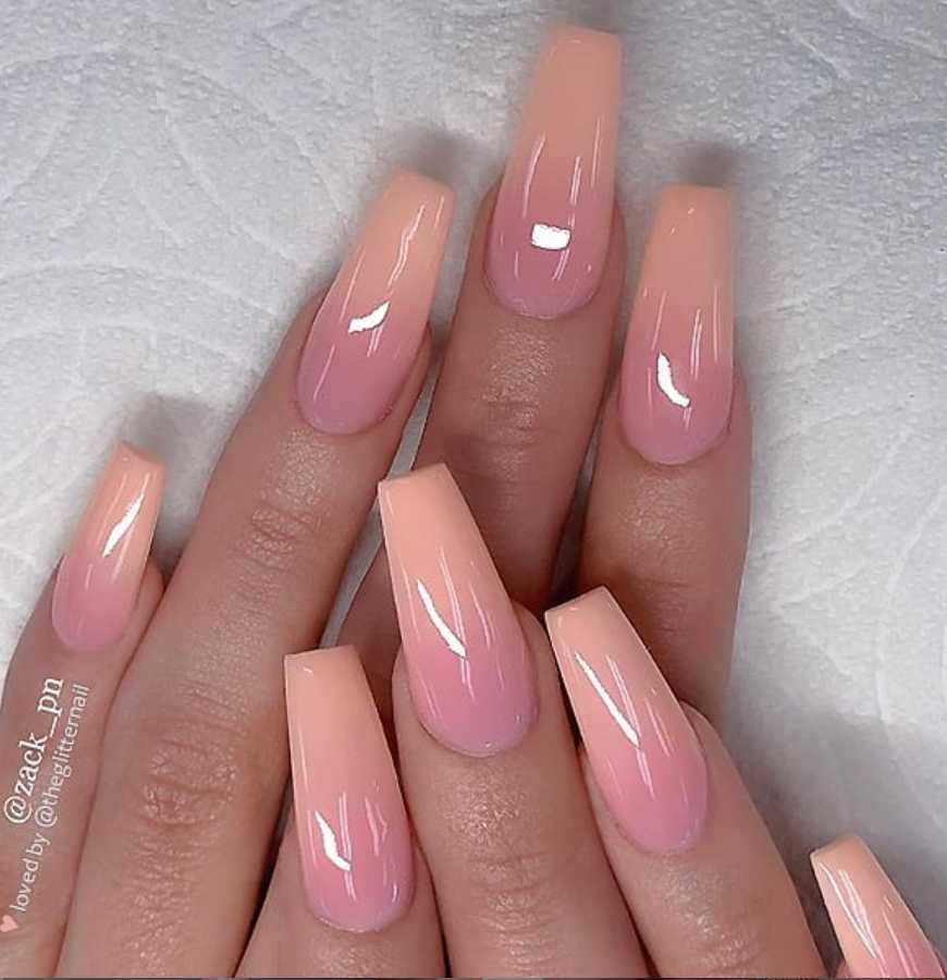 53 Chic Natural Gel Nails Design Ideas For Coffin Nails Page 27 Of 53 Coffin Nails Designs Coffin Nails Long Ombre Acrylic Nails